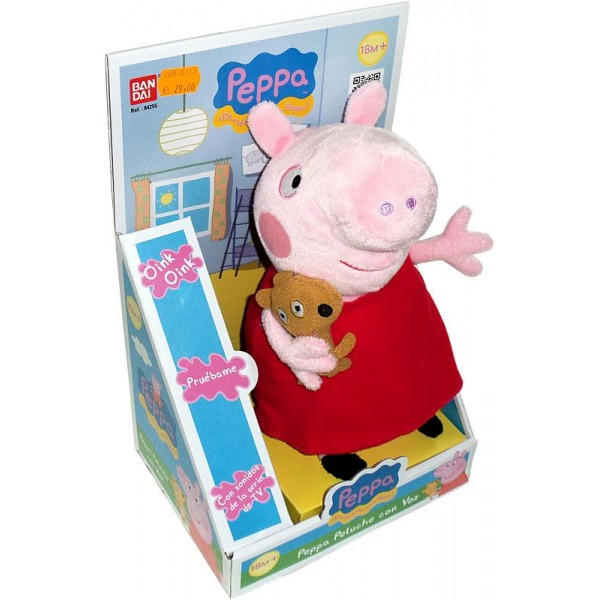 peppa pig peluche con voz 24 cm bandai 84255. Black Bedroom Furniture Sets. Home Design Ideas