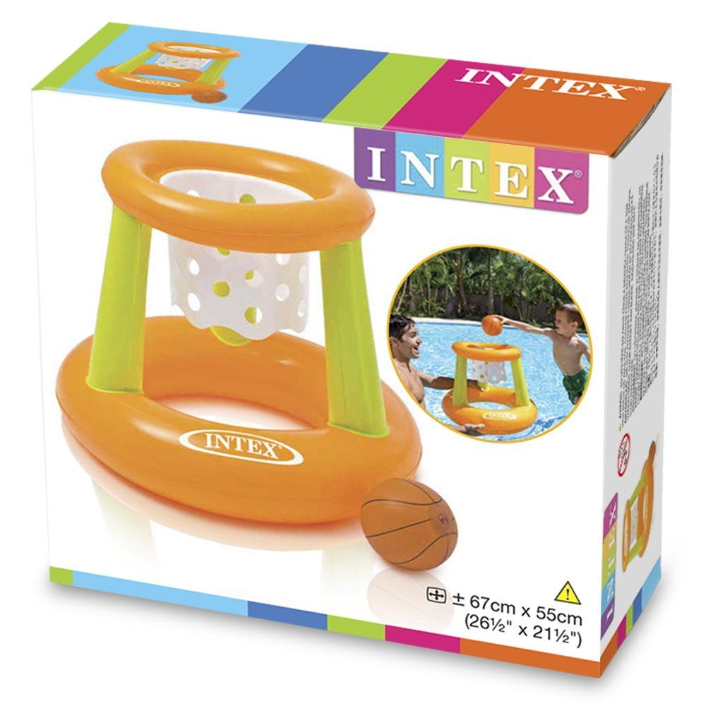 Canasta baloncesto hinchable intex 58504 1001juguetes for Parches para piscinas intex