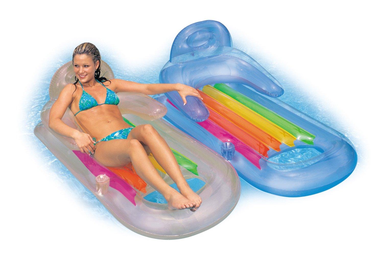 Colchoneta hinchable sill n intex 58802 1001juguetes - Hinchables de agua para piscinas ...