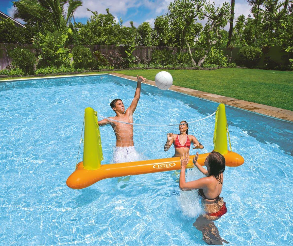 Juego volley hinchable intex 56508 1001juguetes - Red voley piscina ...