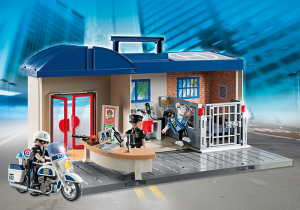 Estación de policia maletin