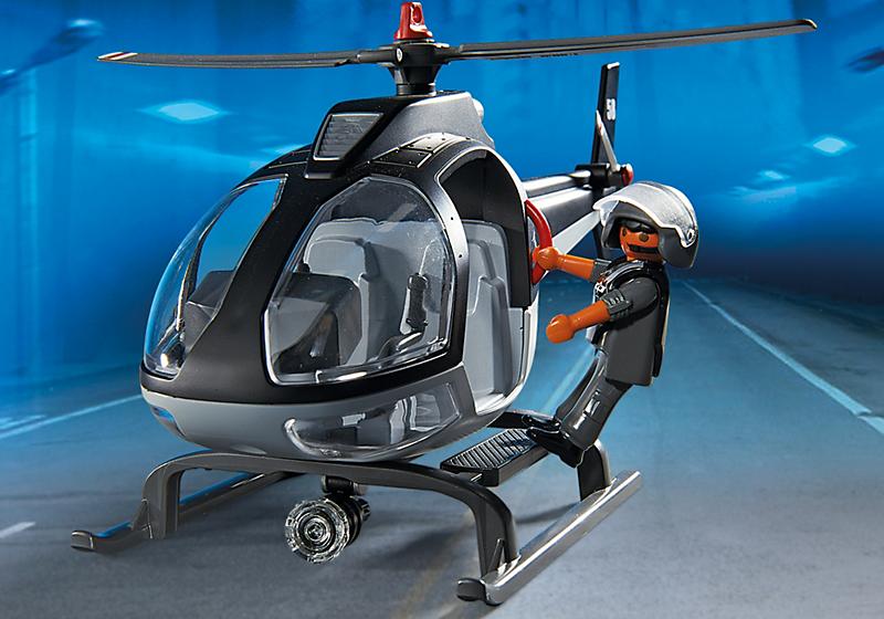 Helic ptero unidad especial de polic a playmobil 5563 for Helicoptero playmobil