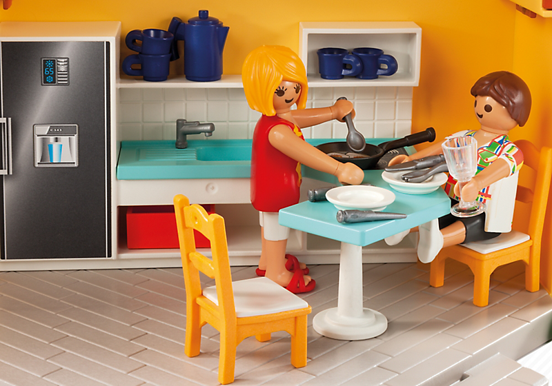 Casa de campo malet n playmobil 6020 1001juguetes - Playmobil 3230 casa de vacaciones ...