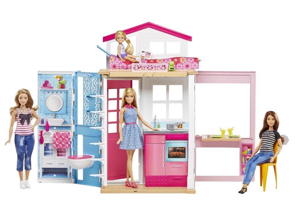 Barbie y su casa mattel dvv48 1001juguetes - Arreglar la casa de barbie ...