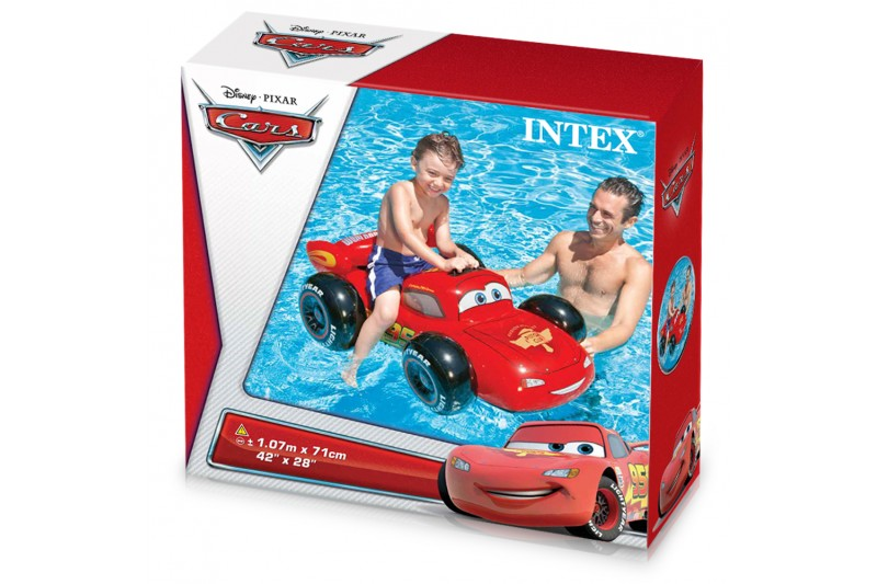 Coche cars hinchable 107x71 cm intex 58576 1001juguetes for Parches para piscinas intex