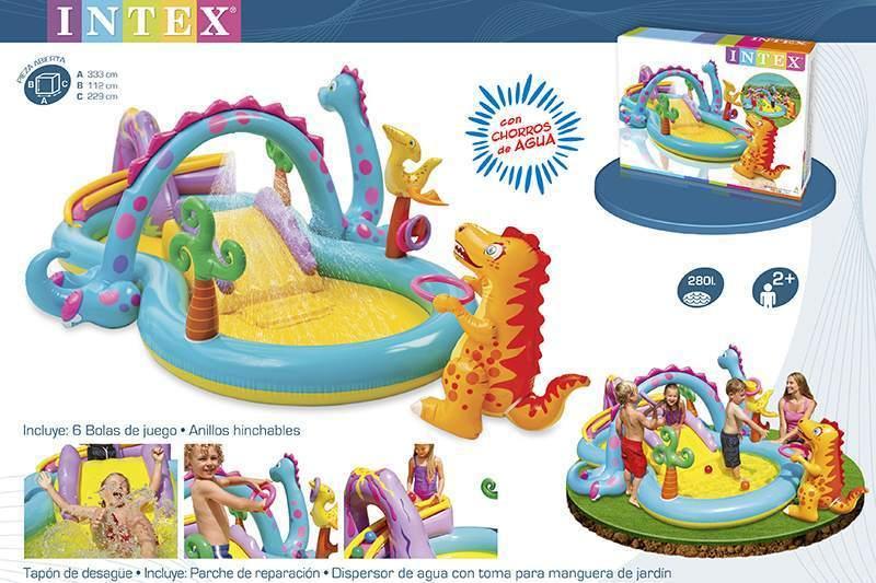 Comprar centro de juegos dinosaurio 1001 juguetes tu for Parches para piscinas intex